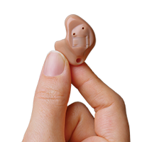 In the Ear Hearing Aid in Hand ITE