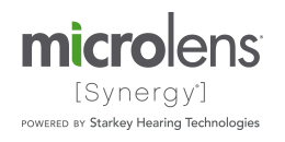 MicroLens Synergy Powered By Starkey Hearing Technologies logo